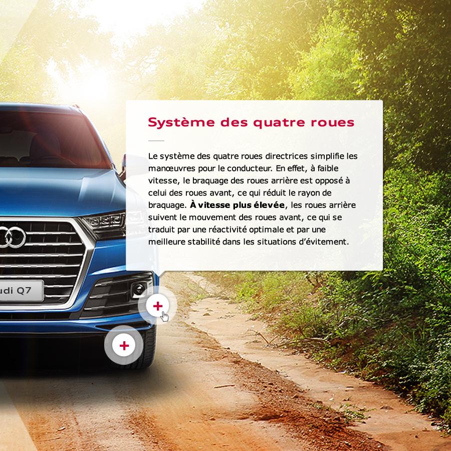 Audi Q7 / Webdesign