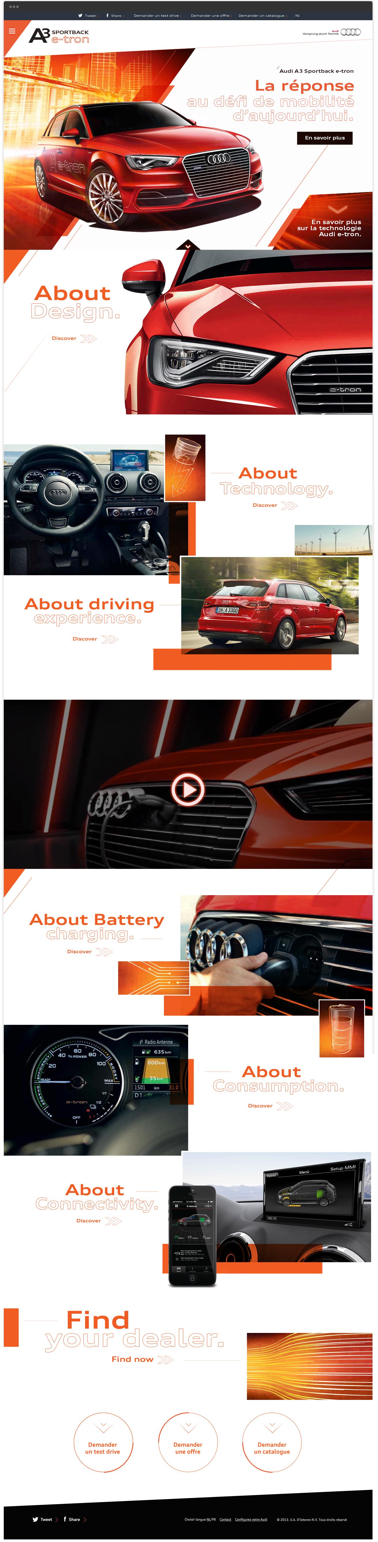 Audi A3 e-tron / webdesign