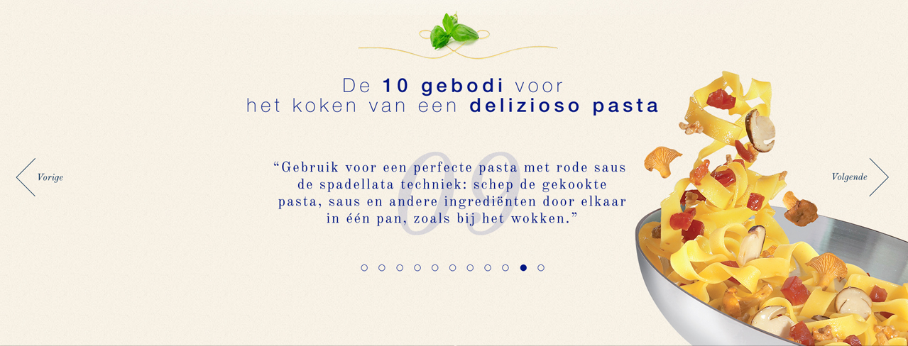 Barilla / Sterren Koken / webdesign / Art direction
