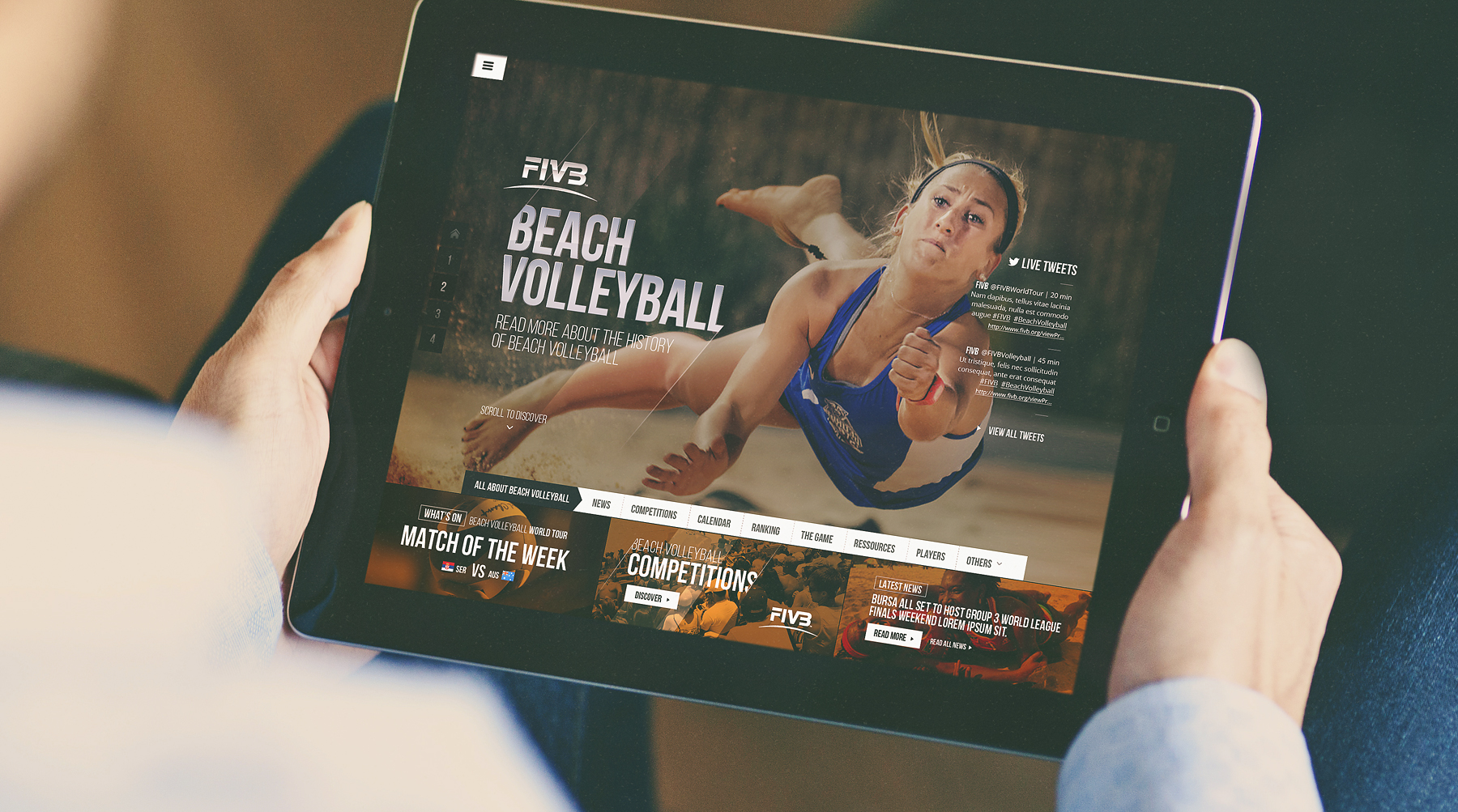 FIVB / Webdesign / Art Direction